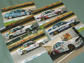 "BMW M3 (E30) set of 6 original 1990s colour BTCC 6x4"" photos (B Malcolm)"